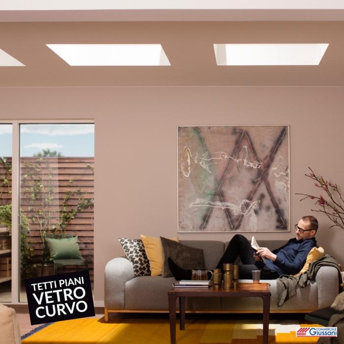 Finestre tetto piano vetro curvo 2 giussani barlassina cormano