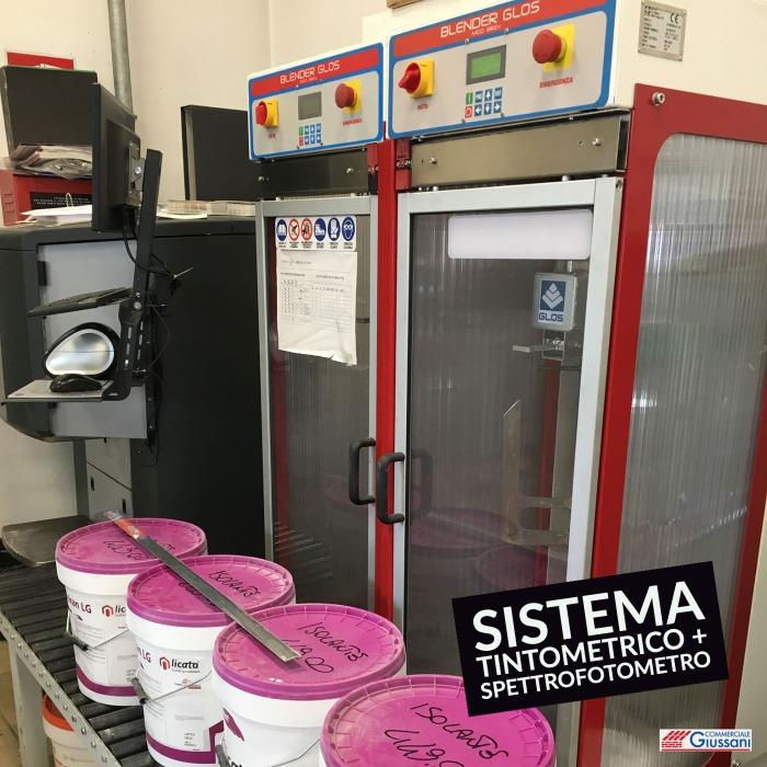 Sistema tintometrico spettrofotometro Licata magazzini edilizia cormano barlassina