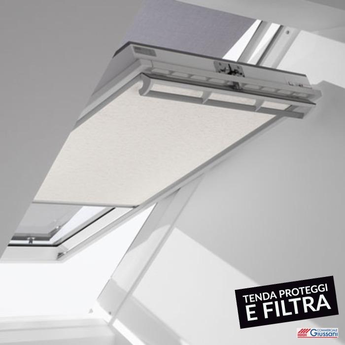 Tenda proteggi e filtra interna chiara